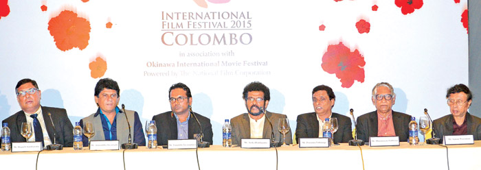 The key players of the event addressing the media.  Pictures by Sarath Peiries