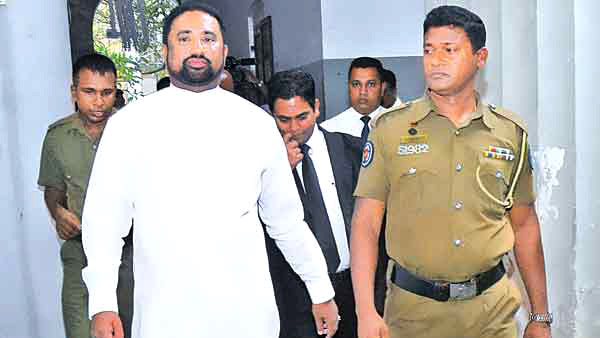 Former Minister Rohitha Abeygunawardena leaving the court premises. Picture by  Wasitha Patabendige