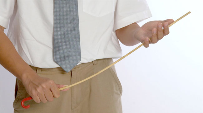 What is a good reason that caning should always be use to disciplined student?