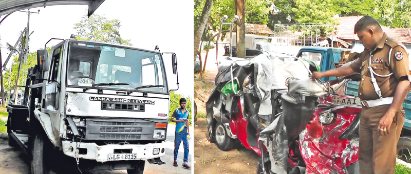 Two die, two injured in trishaw-lorry collision
