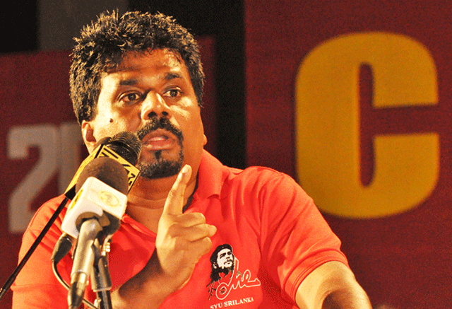 JVP protest Trincomalee MoU with India