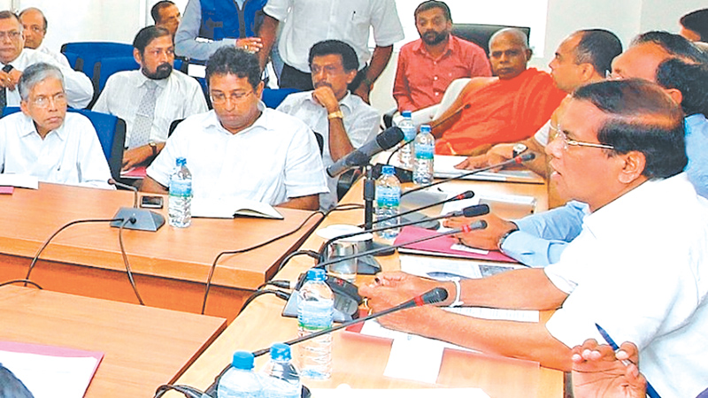 Render utmost assistance to Meethotamulla victims, President tells officials
