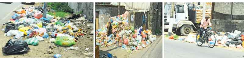 GARBAGE PILED UP AT SEVERAL AREAS IN COLOMBO