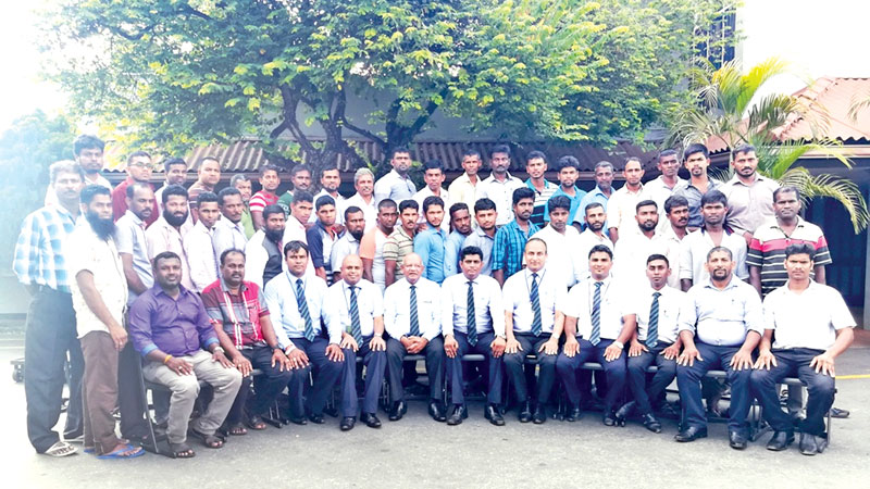 Electrical technicians who came to Kelani Cables from Batticaloa district