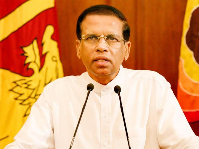 'Major changes within two weeks': President Sirisena