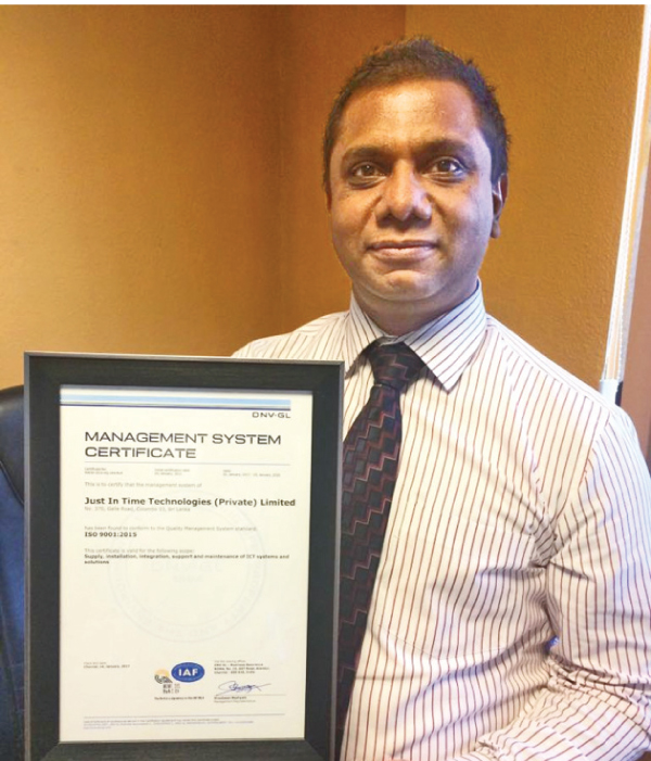 Just In Time Group Chief Operating Officer Chrishan Mendis.
