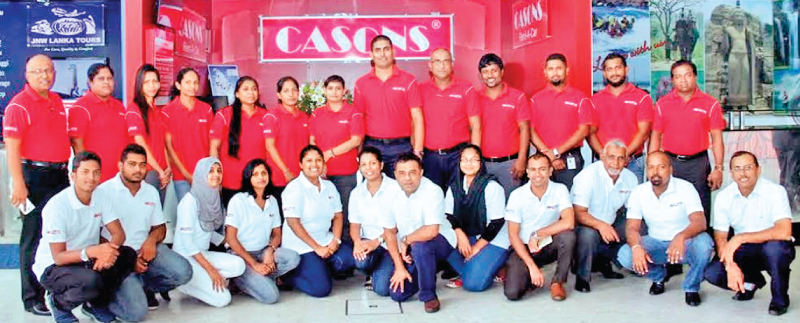 Staff at Casons Airport's Travel counter