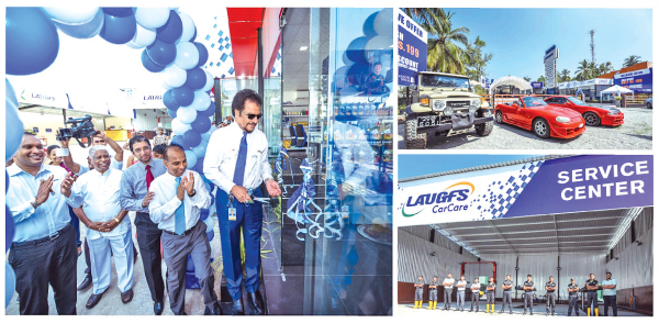 LAUGFS officials opening the new Care centre  in Kalagedihena.