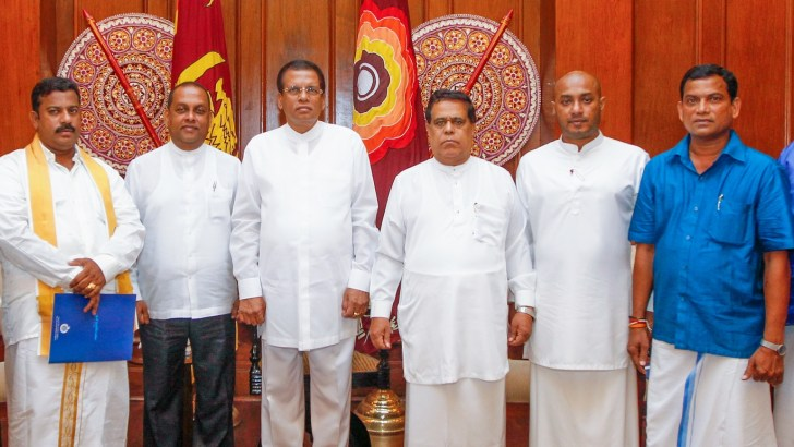 New SLFP Electoral & District Organizers receives appointment letters from President