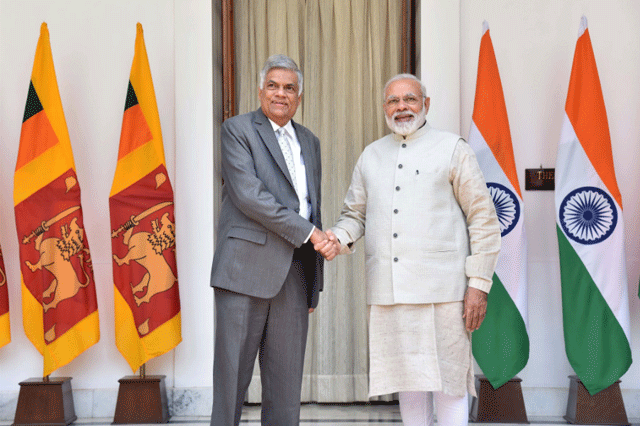 Premier Wickremesinghe meets with Modi