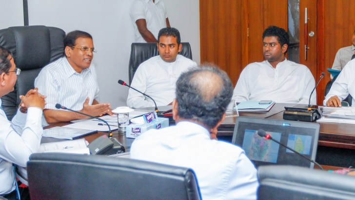 President presides over discussion on progress of irrigation projects