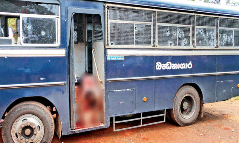 Kalutara Prison Bus shooting: Another suspect arrested.