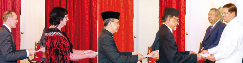 Four new envoys present credentials to President