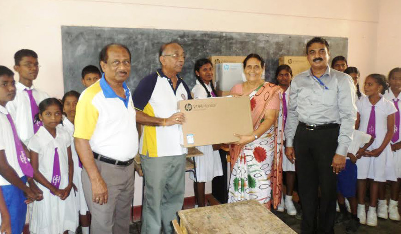 Rotarians present computers to Trincomalee Deaf and Dumb School