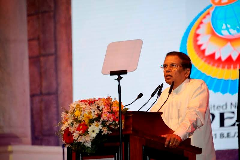 'One who lives with the Dhamma is protected by the Dhamma': President at UN Vesak Week