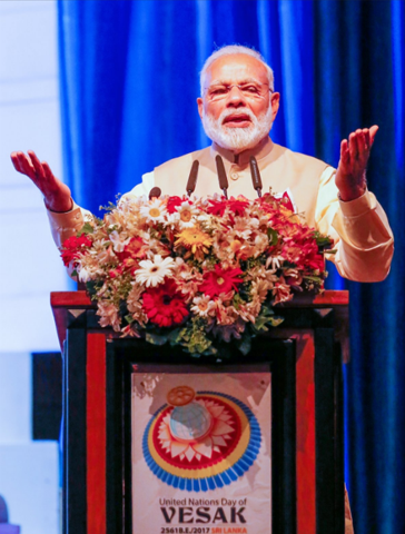 Buddhism's message of peace, the answer to 'growing arc of violence': Modi