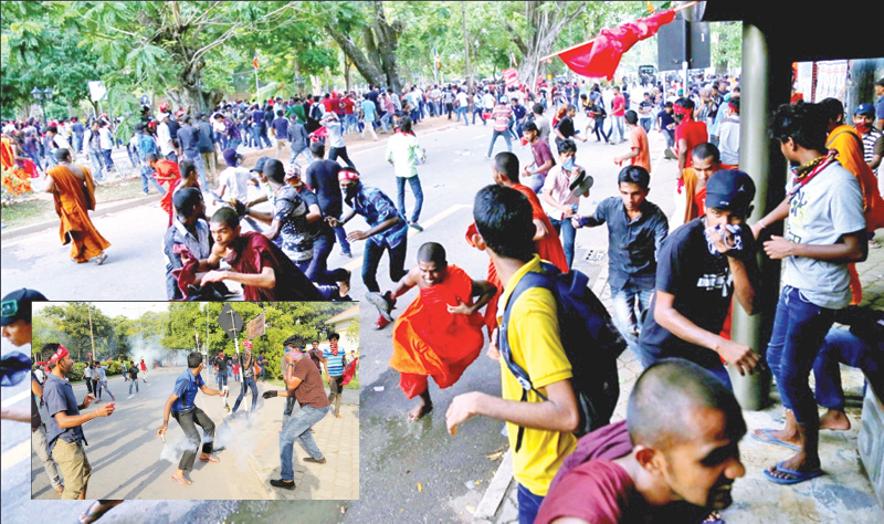 IUSF protest: Eight arrested, five cops injured