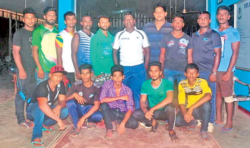 The champion Batticaloa wrestling team. Pictures by Sivam Packiyanathan Batticaloa Special Corr.