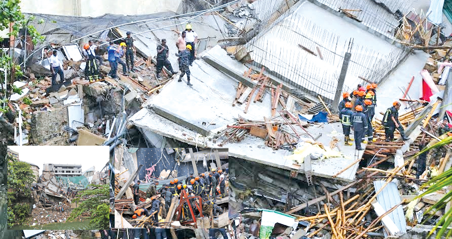 Collapsed Wellawatte building, an unauthorised structure
