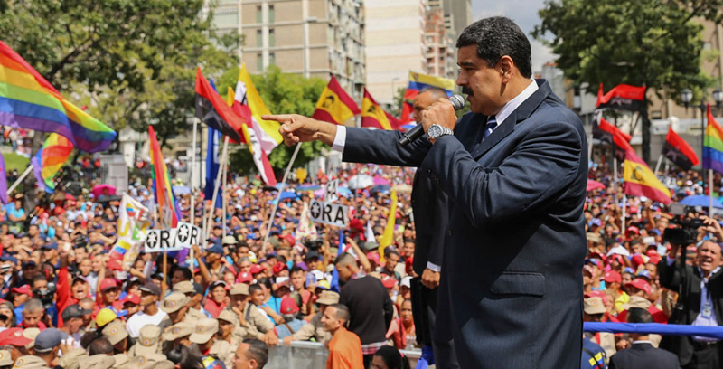 Venezuelan President Nicolas Maduro addresses supporters. - AFP