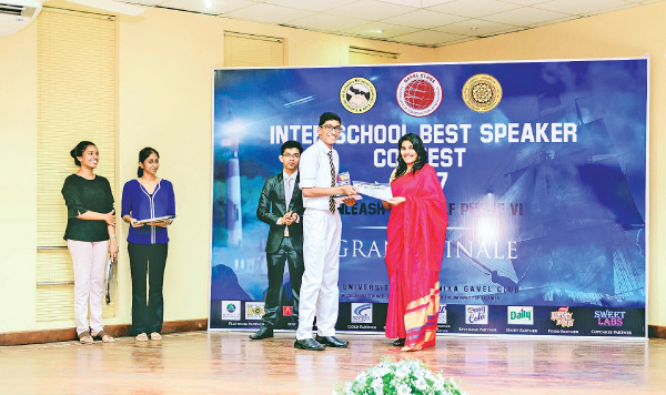 Inter School Best Speaker Contest lauds youngsters