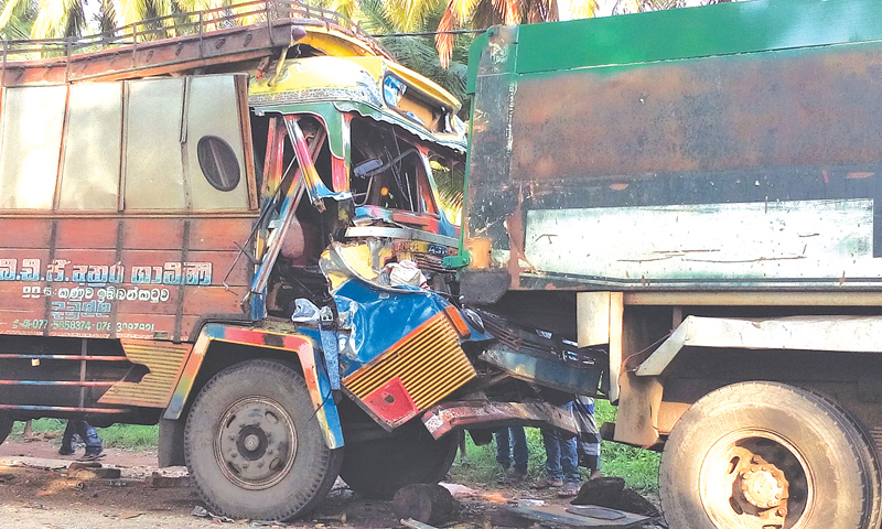 One dies in lorry collision