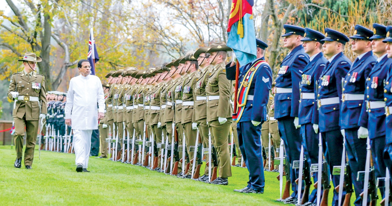 Guard of honour for President in Canberra