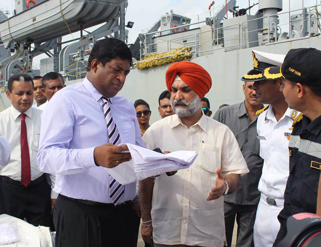 Third Indian ship carrying aid will arrive today