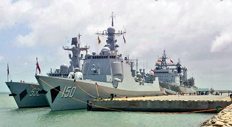 PLA Navy ships to conduct relief operations here