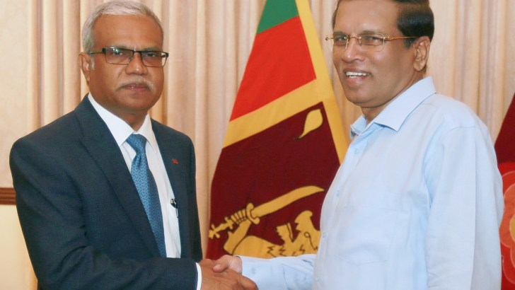 Good relations paved inflow of international support: President Sirisena