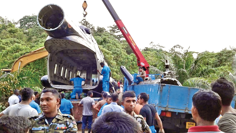 HELICOPTER TOWED TO BASE