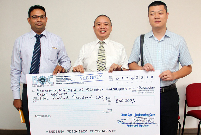 China Geo Engineering donates for flood relief