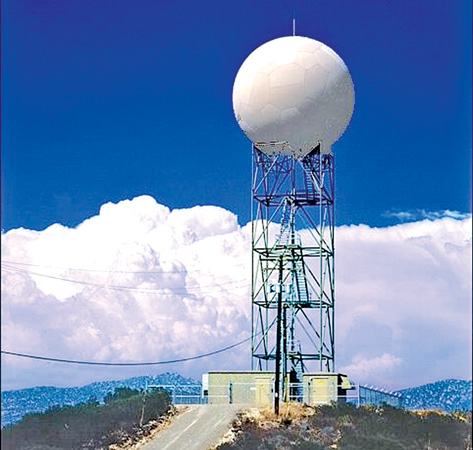 Two modern radars for weather forecast