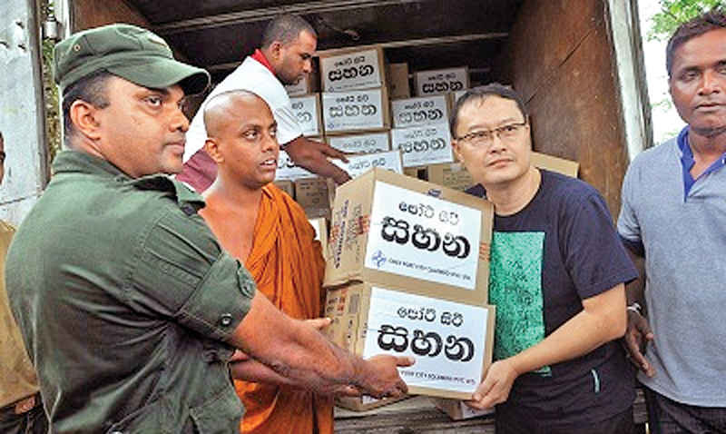 Flood relief from Port City for Kalutara, Matara victims