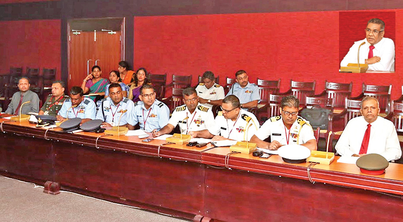 Defence Secretary chairs discussions on managing and mitigating threat of natural disasters