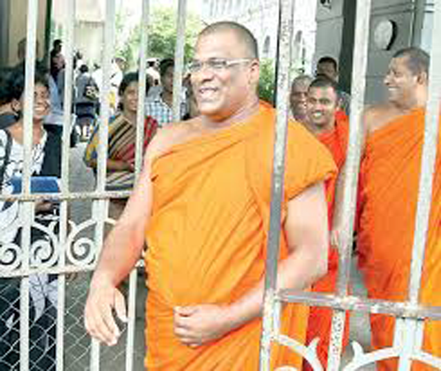 Colombo Additional Magistrate releases Gnanasara Thera on bail