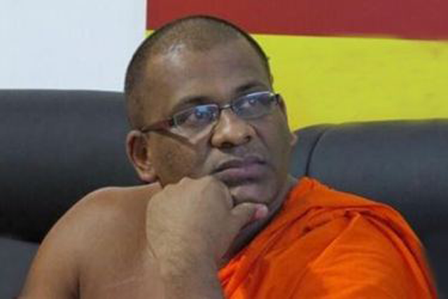 Gnanasara Thera arrives at Organized Crimes Prevention Unit