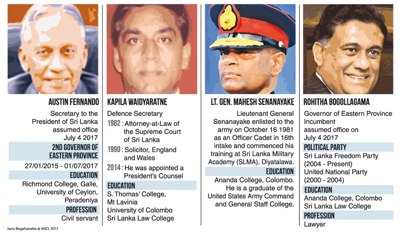 New President's Secretary, Defence Secretary, Army Commander and EP Governor