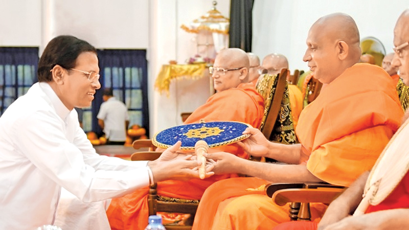 Unitary state, Buddhism will be upheld in new Constitution: President