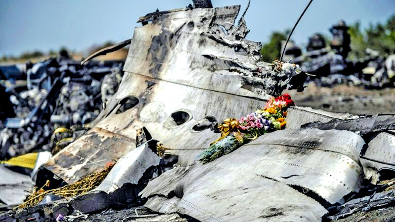 Malaysia Airlines flight MH17 was shot down over Ukraine in July 2014, killing all 298 people on board.- AFP
