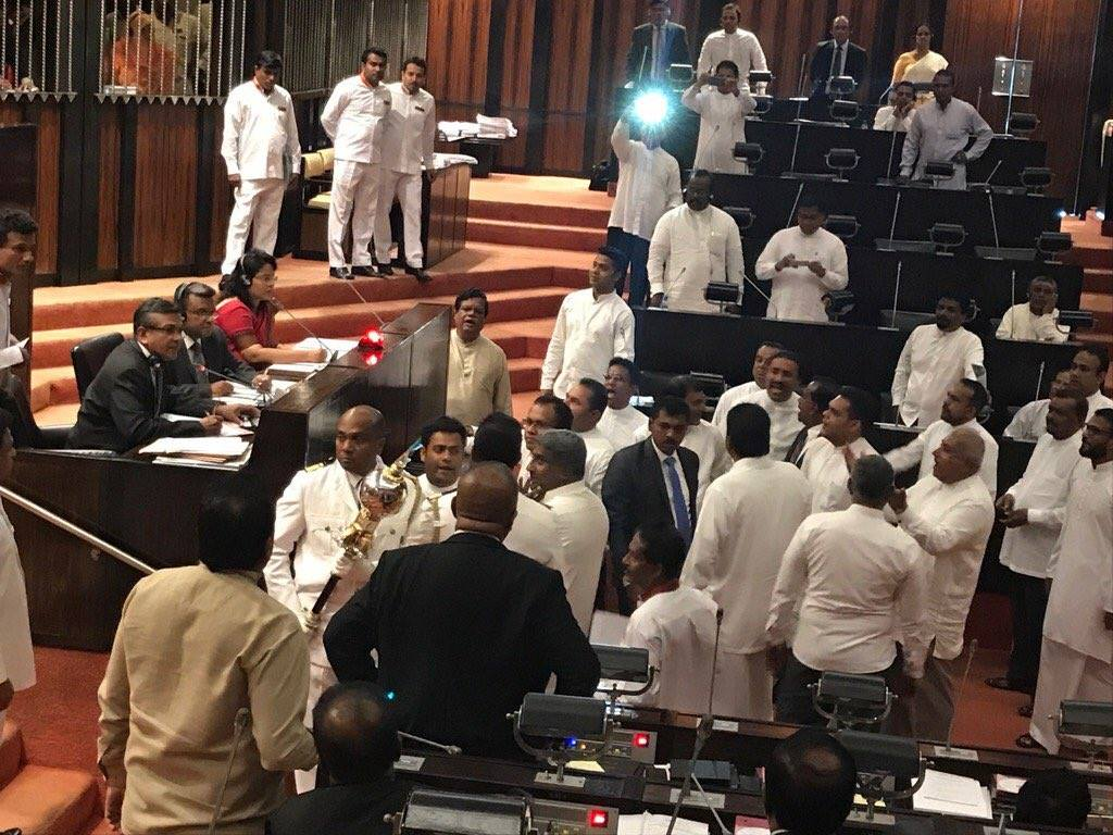 Parliament adjourned amid unrest by Joint Opposition
