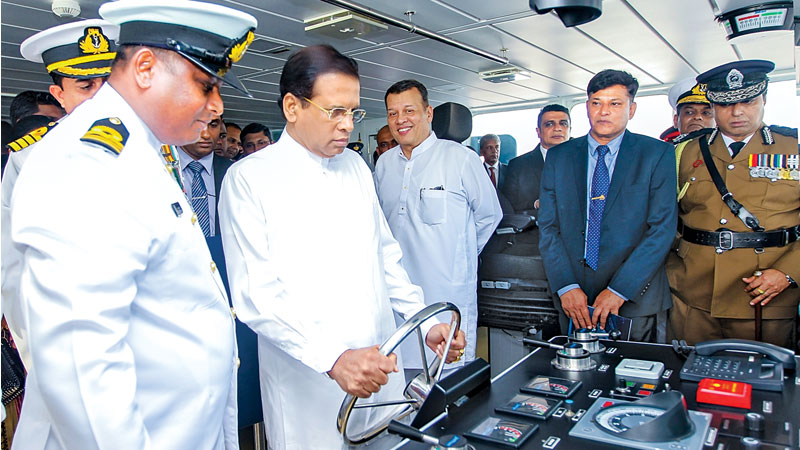 A high tech deep sea exploration vessel was handed over to the Navy by President