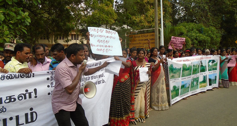 Puttur protest demands removal of cemeteries from villages
