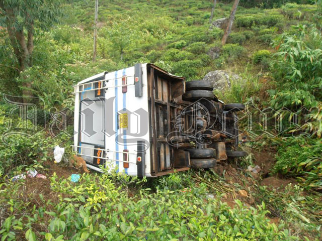 Bus plunges into precipice: 21 injured
