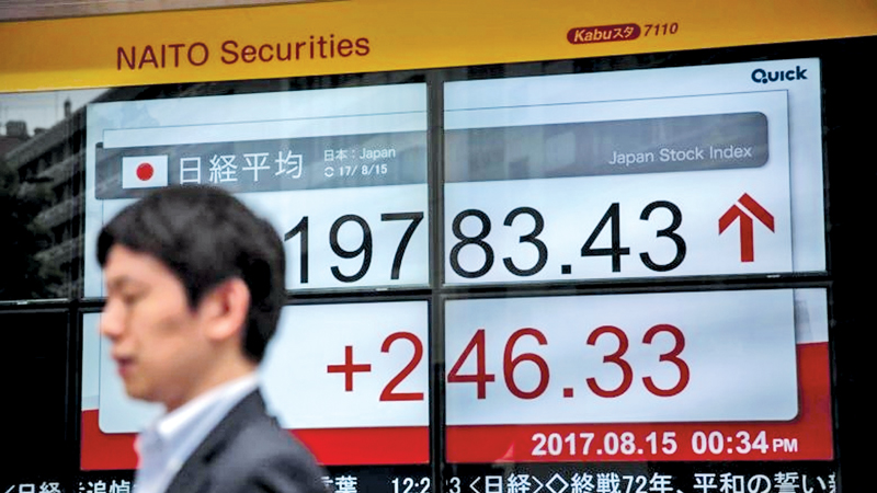 Stocks climb as concerns ease over North Korea, Irma