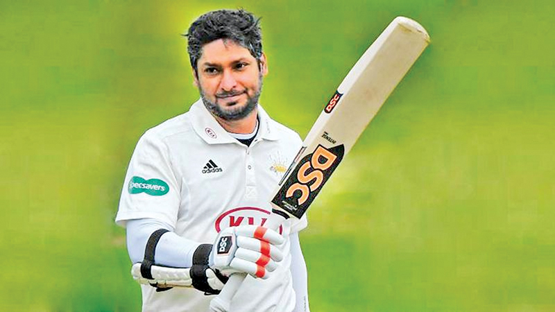 Kumar Sangakkara scored an unbeaten 85 after returning to play for Surrey from the Caribbean Premier League.