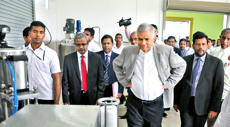 Prime Minister Ranil Wickremesinghe at Sri Lanka's first Incubator and Technology Transfer Centre (ITTC) for SMEs at Makandura.