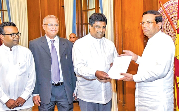 The report containing recommendations for speedy and effective implementation of the criminal justice was presented to President Maithripala Sirisena by Deputy Minister Ajith P. Perera at the Presidential Secretariat yesterday.