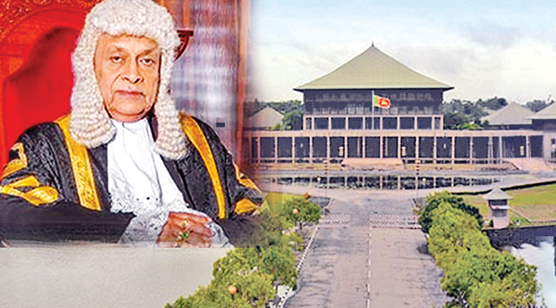 Speaker gets tough on Wimal's statement to bomb the Parliament.