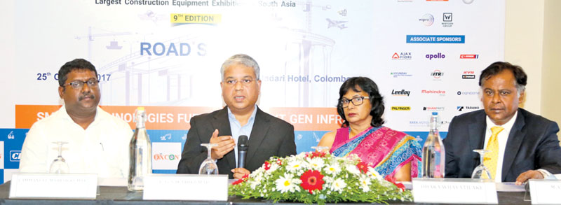 Key officials of EXCON in Colombo on October 25. Picture by Shan Rambukwella